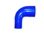 Silikonschlauch Reduzierung 90° blau