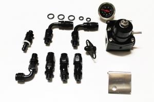 Benzindruckregler Racing mit Zubehör Dash 6 Anschlüsse schwarz