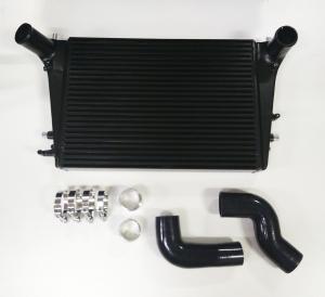 Ladeluftkühler Kit für Golf 5 6  GTI R Audi A3 S3 Seat Leon Passat B6 2.0 TFSI Douple-DIN 65mm plug and play