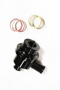 Pop off Kolbenventil Alu für 1.8T und andere Turbofahrzeuge schwarz 25mm Anschluss