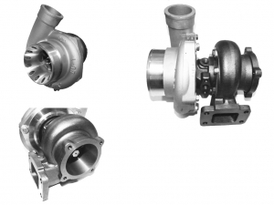 Turbolader GTR-650 HF (GT3582, GT35) 70A/R wassergekühlt 61,4mm - 82A/R 4-Bolt