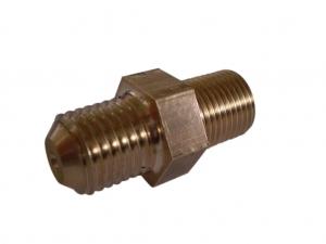 Ölrestriktor GT-R Turbolader M11x1mm auf 7/16 UNF (Dash 04)  mit 0,9mm Bohrung Messing