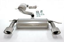 Auspuffanlage/Sportauspuff für Seat Leon 1P 2.0 TFSI TSI Cupra ø 76mm Duplex aus Edelstahl mit EG-Genehmigung (eintragungsfrei)