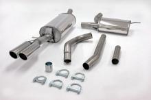 Auspuffanlage/Sportauspuff für Audi A4 B5 1,6 1,8 1.8T 1,9TDI 2,5TDI 63,5mm aus Edelstahl mit EG-Genehmigung (eintragungsfrei)