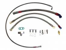 Öl- und Wasseranschlusskit für 1.8T Motoren mit gleitgelagerteTurbolader K04, T3/T4, GT28 etc.