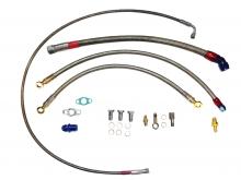 Öl- und Wasseranschlusskit für 1.8T Motoren mit GT Turbolader GT2560R,GT28RS, GT2871R, GT30, GT35, GTX28, GTX30, GTX35 für TOP-Mount Krümmer