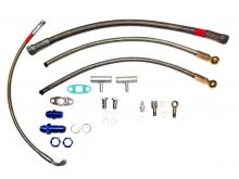 Öl und Wasseranschlusskit für VW 16v G60 Turbo gleitgelagerte Turbos GT25, T3/T4 T3