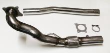 Hosenrohr / Downpipe für Golf 6 R, Audi S3 8P Quattro 1.8TFSI,  2.0 TFSI  ø 76mm Edelstahl mit Interlock Flexrohr