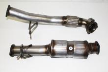 Hosenrohr Downpipe ø 63,5mm für Ford Focus MK2 ST225 ohne Kat aus Edelstahl