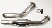 Hosenrohr Downpipe für Audi A4 B7 2.0 TFSI Quattro ø 76mm mit 200 Zellen Rennkat Edelstahl