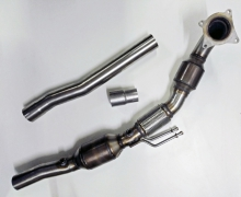 HJS Downpipe 90 95 1105 2.0 TFSI für Golf 5 + 6 GTI GTI, Audi A3, Audi TT 2.0 TFSI 200 Zellen Sportkat ø 70mm EG-Betriebserlaubnis (eintragungsfrei)