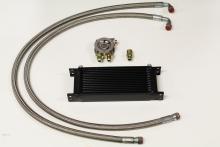 Ölkühlerkit komplett für Audi/VW 16 Reihen Ölkühler mit Thermostat schwarz