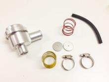 Pop off Kolbenventil Alu für 1.8T und andere Turbofahrzeuge silber 25mm Anschluß