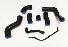 Ladedruckschläuche verstärkt aus Silikon schwarz für Audi S3 8L, TT 8N, Leon Cupr R 1M! 8-teilig