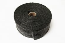 Hitzeschutzband Fiberglas schwarz 10 Meter - 50mm breit