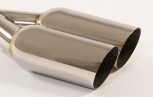 Endrohr 38 - 2x90mm rund scharfkantig abgeschrägt  Edelstahl