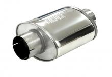 Schalldämpfer universell Simons ø 89mm 3,5 oval 140x220mm L 250mm Edelstahl