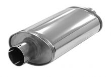 Schalldämpfer universell Simons ø 63,5mm oval 118x185mm L 320mm Edelstahl