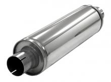 Schalldämpfer universell Simons ø 63,5mm 2,5 rund 125mm L 420mm Edelstahl