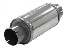 Schalldämpfer universell Simons ø 76mm 3 rund 125mm L 250mm Edelstahl