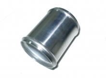 Alurohrverbinder ø 76mm - L 125mm - 1,5mm Wandstärke gebördelt