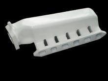Ansaugbrücke R32 Turbo kurz Ausgang seite aus Aluguss weiß