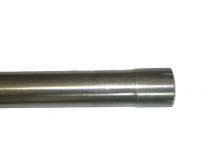 Edelstahlrohr für Auspuff ø 76mm 3 Länge 1 Meter x 1,5mm Wandstärke einseitig Muffe