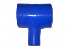 Silikon T-Stück 70>25mm innendurchmesser blau 4 lagig 5mm Wandstärke
