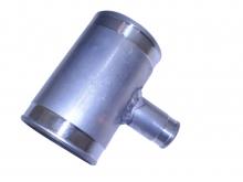 Alurohrverbinder T-Stück ø 63,5>25mm - L 100mm - 1,5mm Wandstärke gebördelt