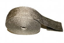 Hitzeschutzband Titan 10 Meter - 50mm breit für Rohrkrümmer,  Hosenrohre und Auspuffanlagen