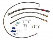Öl- und Wasseranschlusskit für VR6 R32 Motoren für kugelgelagerte Turbolader mit Abgang am Kettenspanner