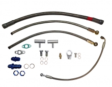 Öl- und Wasseranschluss kit für VR6 R32 Motoren für Garrett GT28 GT30 GT35 mit Abgang am Kettenspanner